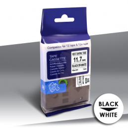 Rurka Brother HSe-231 BLACK on WHITE 24inks 11,7mm