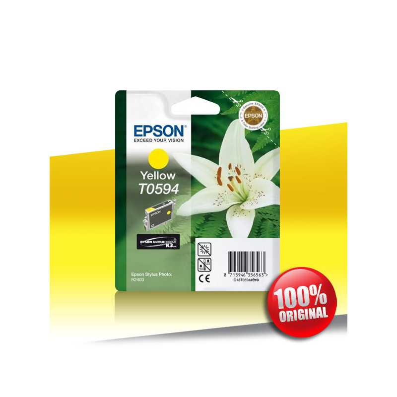 Tusz Epson 2400 Sph R (T0594) YELLOW 13ml